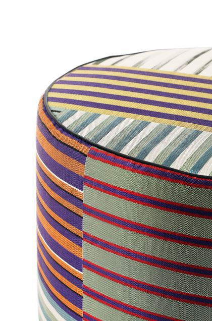 MISSONI HOME WINSLOW CYLINDER POUF Purple E - Front