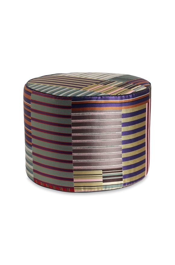 MISSONI HOME WINSLOW CYLINDER POUF E, Frontal view