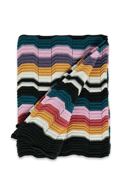 MISSONI HOME WALTON THROW Ochre E - Back