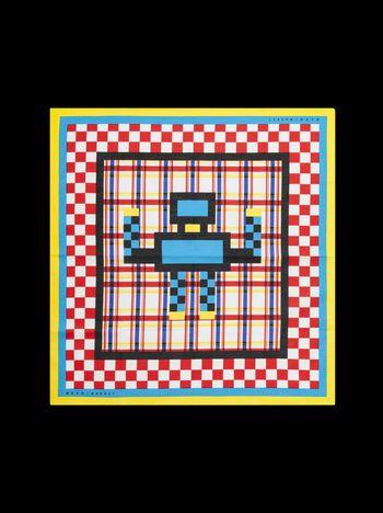 Marni Bandana MARNI MARKET in cotone motivo robot Uomo