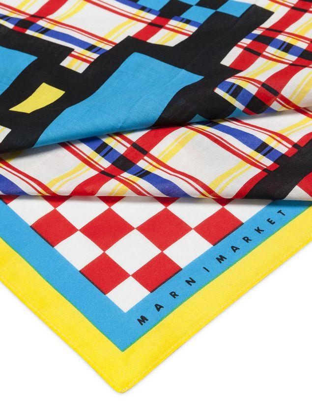 Marni MARNI MARKET bandana in cotton robot motif Man - 3