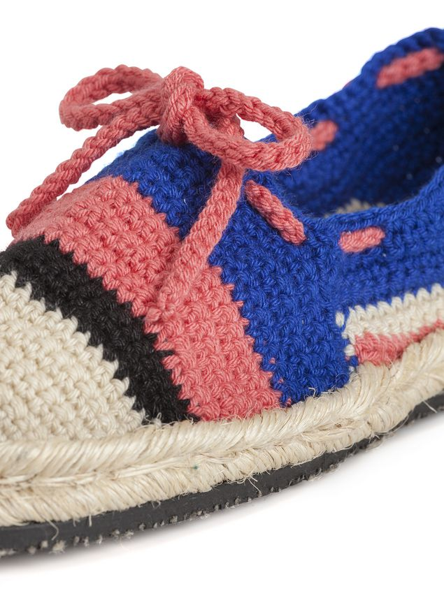 Marni MARNI MARKET espadrilles in blue pink beige and black cotton and fique  Man - 4