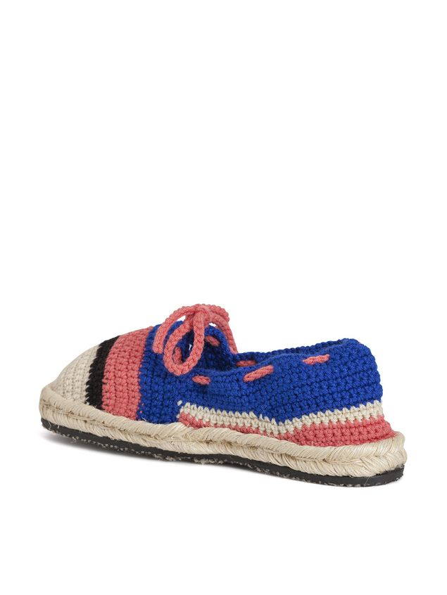 Marni MARNI MARKET espadrilles in blue pink beige and black cotton and fique  Man - 2