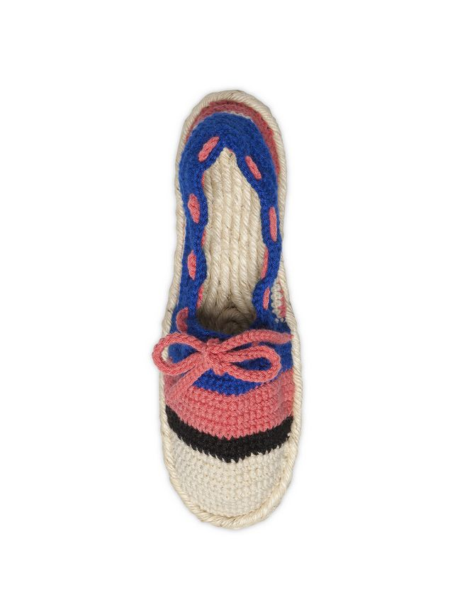 Marni MARNI MARKET espadrilles in blue pink beige and black cotton and fique  Man - 3