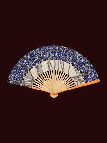 Marni Ventaglio MARNI MARKET in bambù e seta blu e grigio Uomo