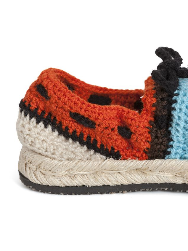 Marni MARNI MARKET espadrille sandals in  turquoise, red, black and brown cotton and fique Man - 4