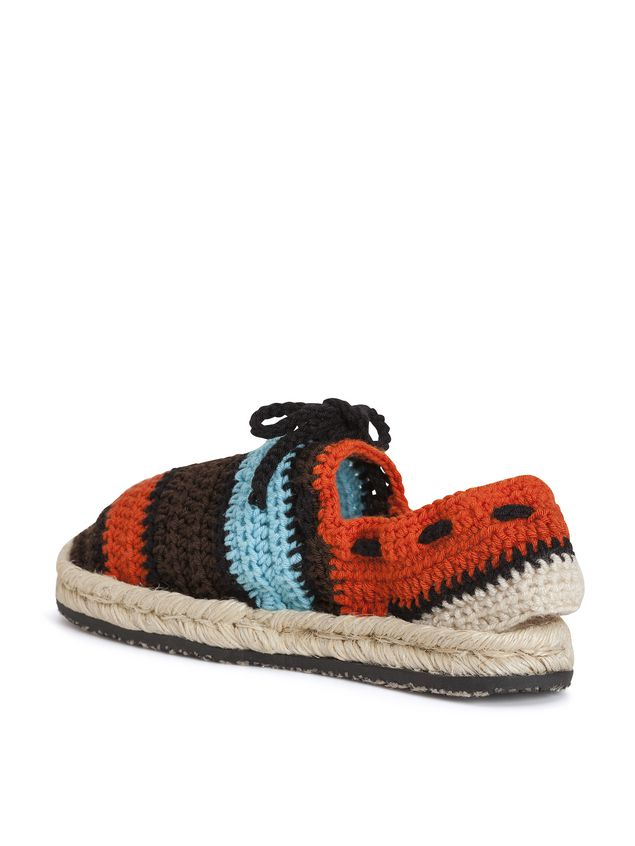 Marni MARNI MARKET espadrille sandals in  turquoise, red, black and brown cotton and fique Man - 2