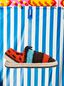 Marni MARNI MARKET espadrille sandals in  turquoise, red, black and brown cotton and fique Man - 1