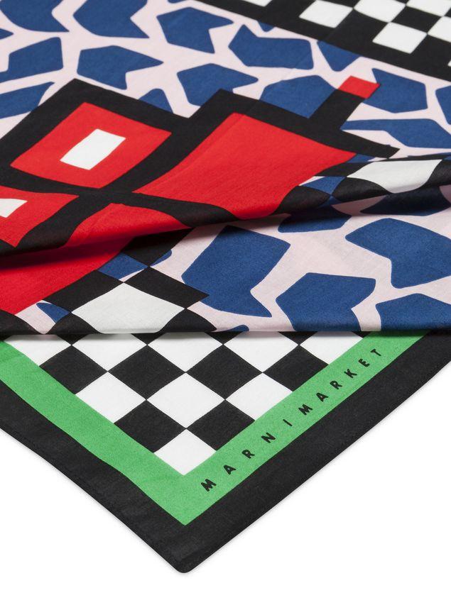 Marni MARNI MARKET bandana in cotton car motif Man