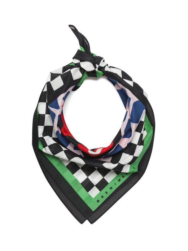Marni MARNI MARKET bandana in cotton car motif Man - 2