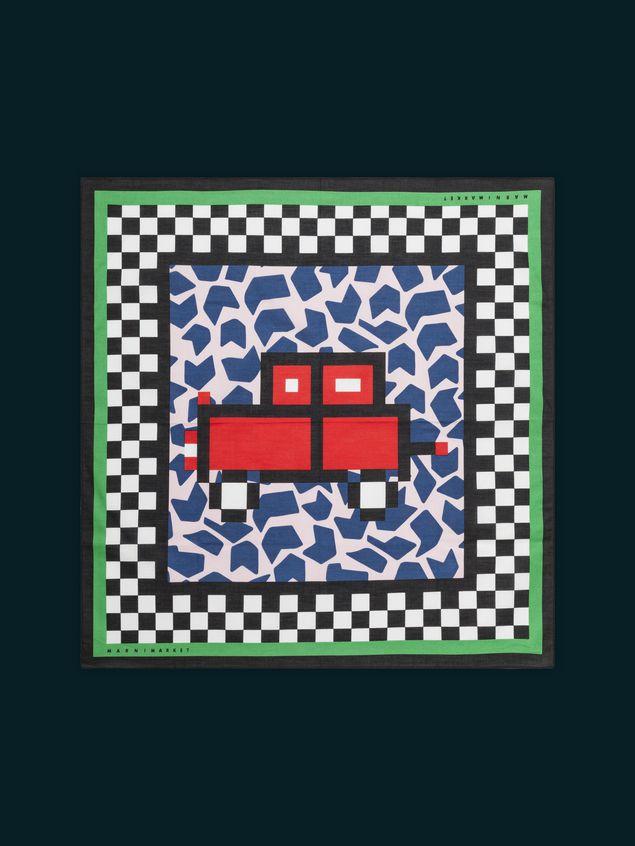 Marni MARNI MARKET bandana in cotton car motif Man - 1