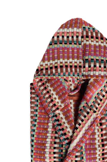 MISSONI HOME WALBERT HOODED BATHROBE Brown E - Front