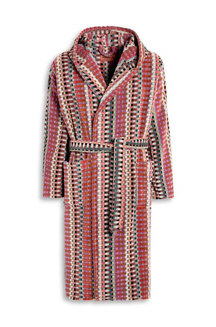 MISSONI HOME WALBERT HOODED BATHROBE Brown E - Back