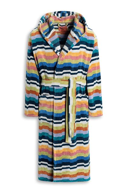 MISSONI HOME WILBUR HOODED BATHROBE Deep jade E - Back