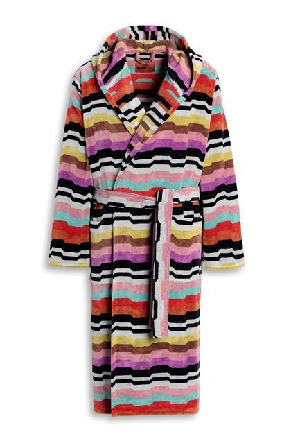 MISSONI HOME WILBUR HOODED BATHROBE Black E - Back