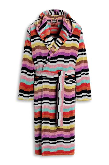 MISSONI HOME Towelling robe E WILBUR HOODED BATHROBE m