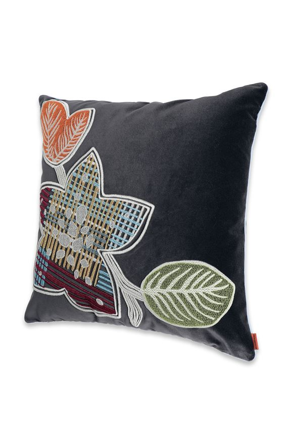 MISSONI HOME WAILUA_RICAMATO CUSHION Steel grey E