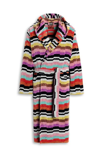 MISSONI HOME WILBUR HOODED BATHROBE Light purple E - Back