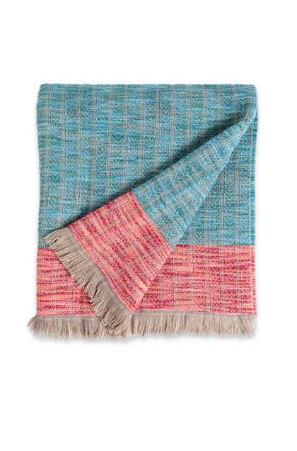 MISSONI HOME WALDO THROW Sky blue E - Back
