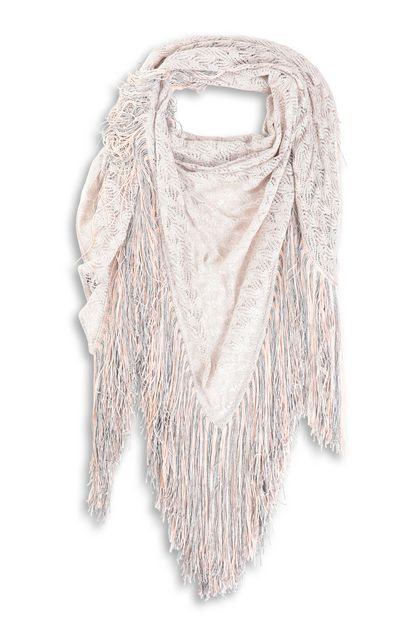 MISSONI Shawl Silver Woman - Back