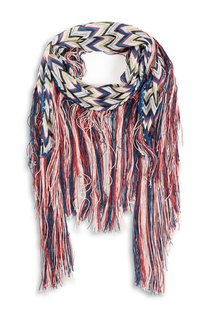 MISSONI Shawl Blue Woman - Back