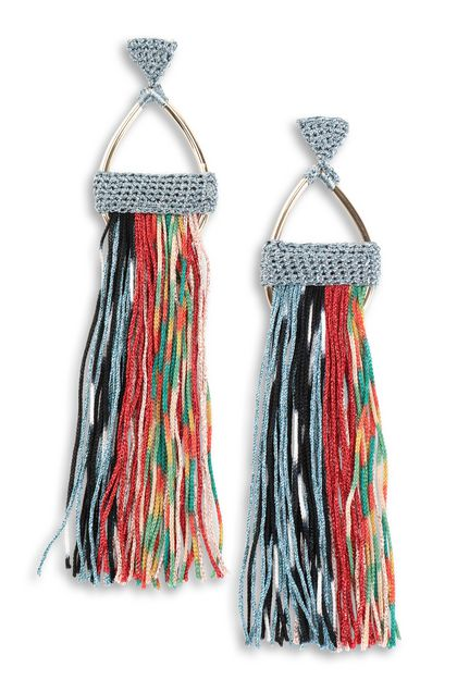 MISSONI Earrings Sky blue Woman - Back