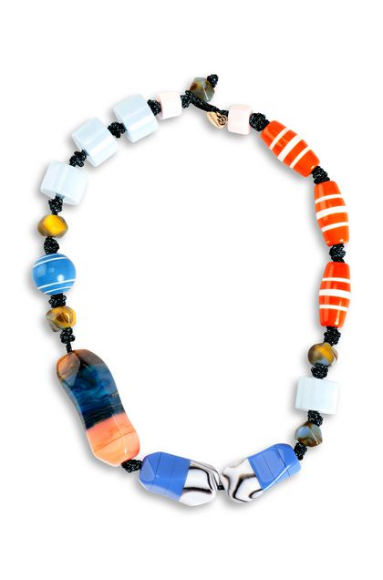 MISSONI Necklace Sky blue Woman - Back