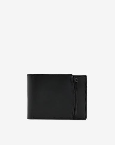 ACCESSORIES Leather zip wallet Black
