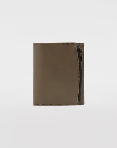 ACCESSORIES Leather wallet Military green