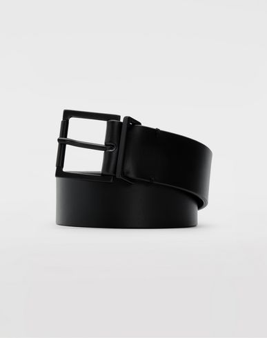 ACCESSORIES Leather belt Black