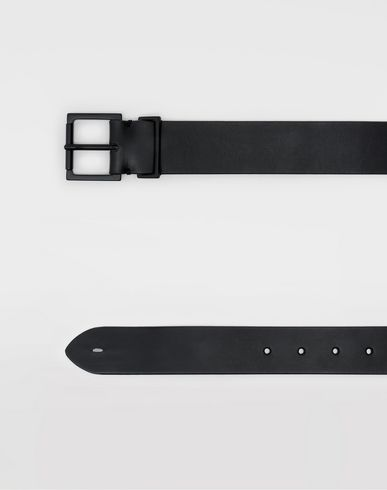 Small Leather Goods Leather belt Black