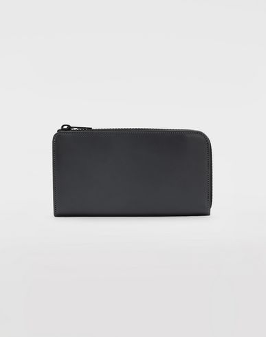ACCESSORIES Leather zip wallet Grey