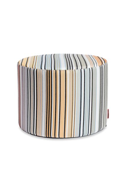 MISSONI HOME WINDHOEK CYLINDER POUF Sky blue E - Back