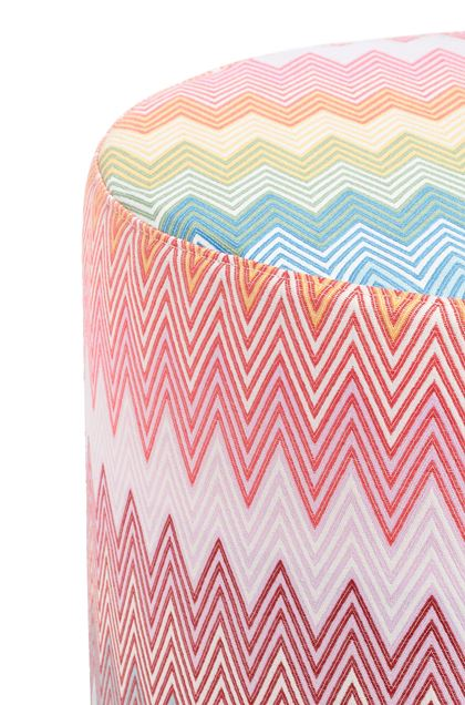 MISSONI HOME WEYMOUTH ПУФ-ЦИЛИНДР Розовый E - Передняя сторона
