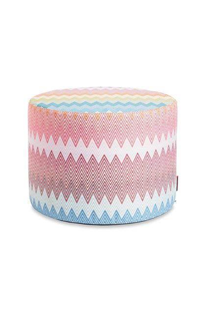 MISSONI HOME WEYMOUTH CYLINDER POUF Pink E - Back