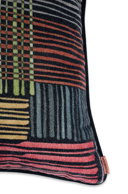 MISSONI HOME WOODSTOCK CUSHION Black E - Front
