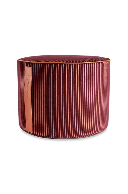 MISSONI HOME RAFAH CYLINDER POUF Deep purple E - Back