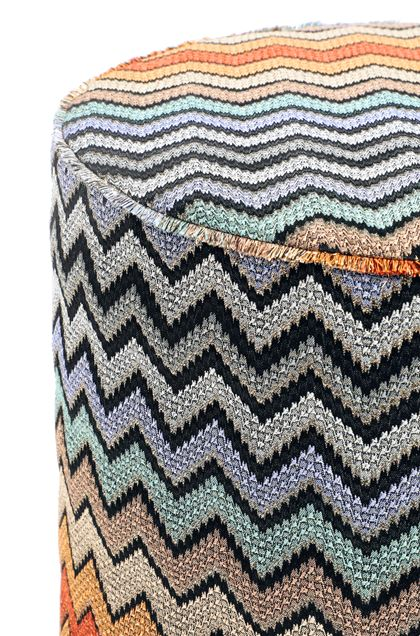 MISSONI HOME WESTMEATH  CYLINDER POUF Brown E - Front
