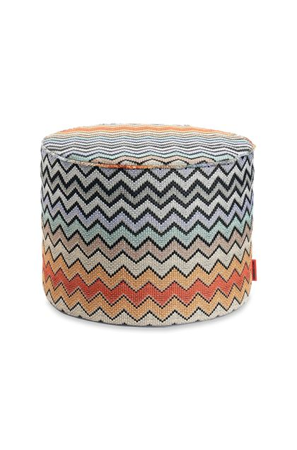 MISSONI HOME WESTMEATH  CYLINDER POUF Brown E - Back