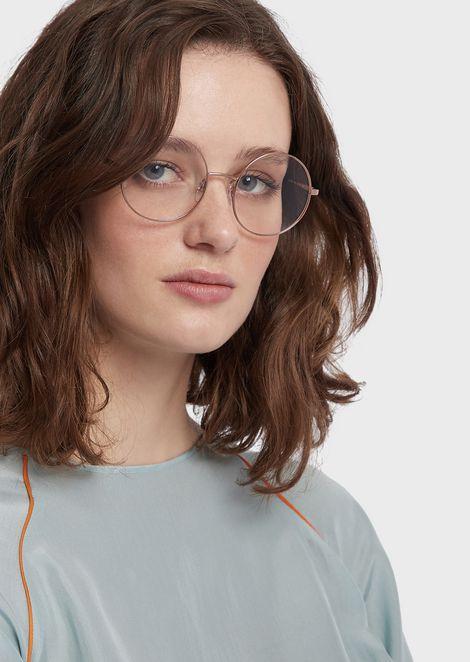 Runde optische Brille