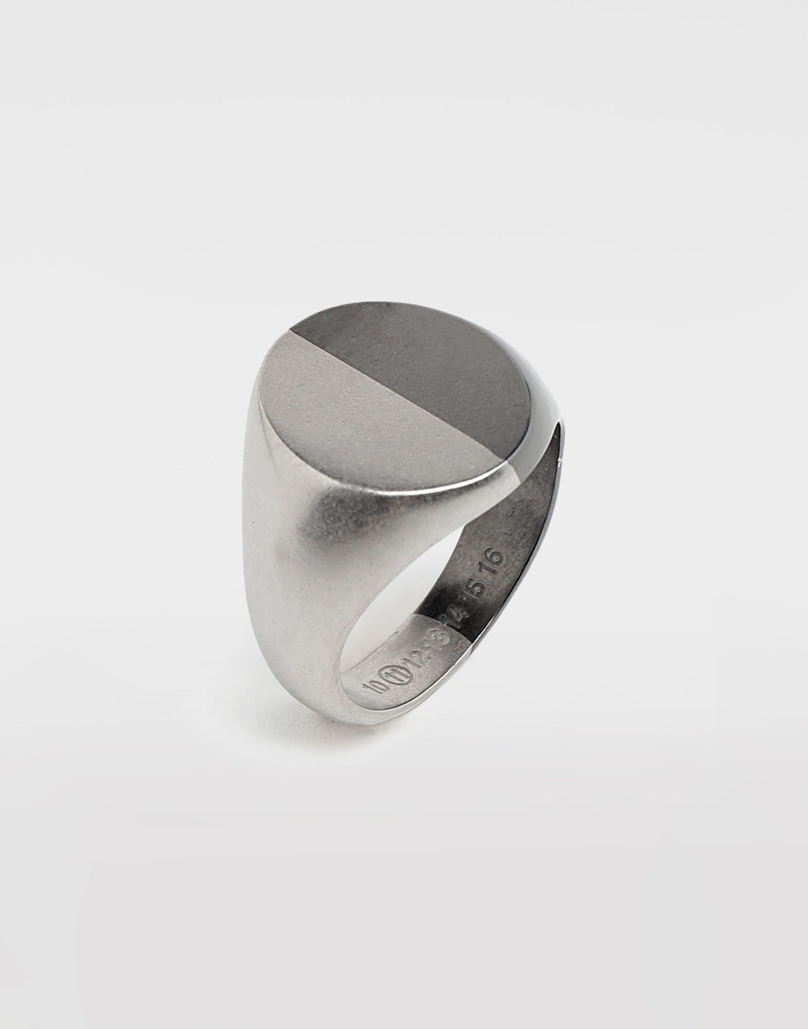 MAISON MARGIELA Silver signet ring Ring Man d