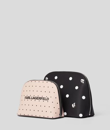 KARL LAGERFELD K/DOTS TOILETRY BAG
