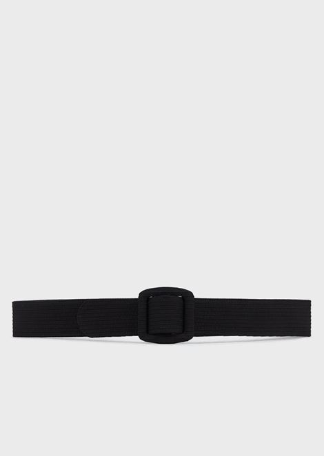 Wide belt in satin grosgrain