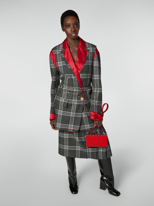 Marni SPRING bag in grained leather with top spiral red Woman - 2