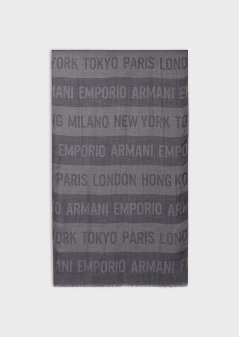 Scarf with logo and band motif