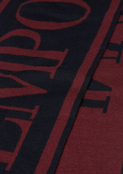 ウール混紡スカーフ ジャカードロゴ