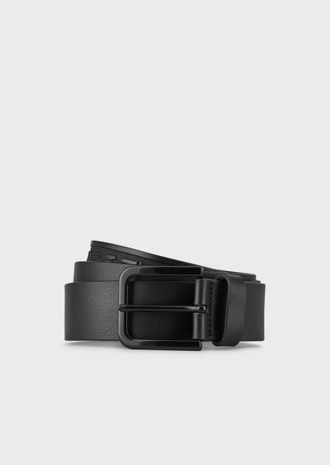 Gürtel aus Leder mit Logoprägung