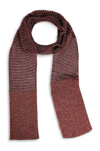 M MISSONI Scarf Rust Woman - Back