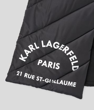 KARL LAGERFELD RUE ST GUILLAUME PUFFER SCARF