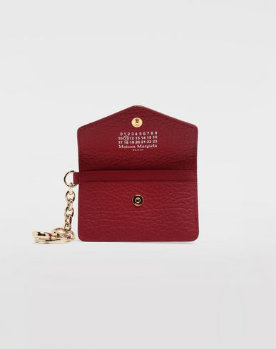ACCESSORIES Leather keyring wallet Red